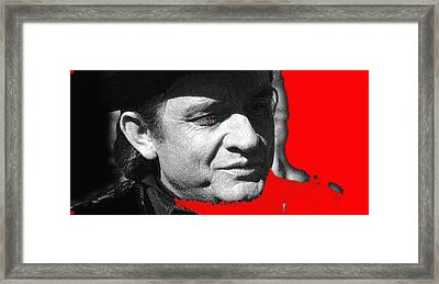 Framed Print featuring the photograph Johnny Cash Music Homage Ring Of Fire Old Tucson Arizona 1971 by David Lee Guss