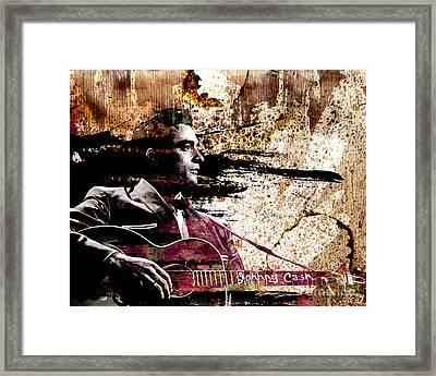 Johnny Cash Original  Framed Print