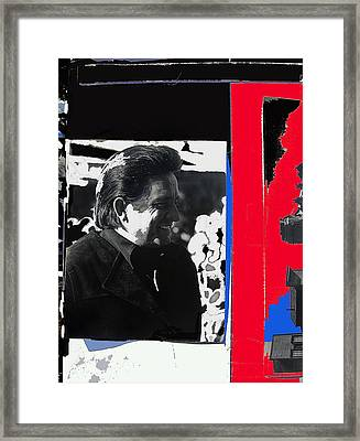 Framed Print featuring the photograph Johnny Cash  Smiling Collage 1971-2008 by David Lee Guss