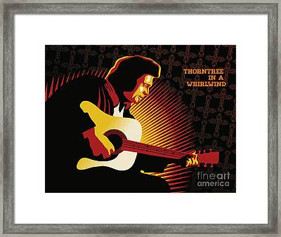 Johnny Cash Thorntree In A Whirlwind Framed Print by Sassan Filsoof