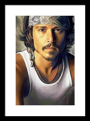 Johnny Depp Framed Prints