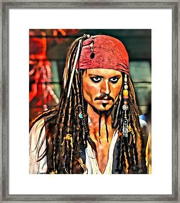 Johnny Depp As Jack Sparrow Framed Print
