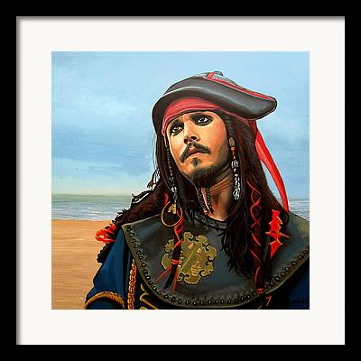 Pirates Paintings Framed Prints