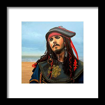 Johnny Depp Framed Prints