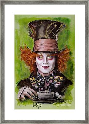 Johnny Depp As Mad Hatter Framed Print