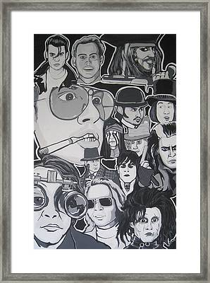Johnny Depp Character Tribute Framed Print by Gary Niles