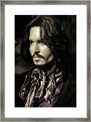 Johnny Depp Framed Print by Lee Dos Santos
