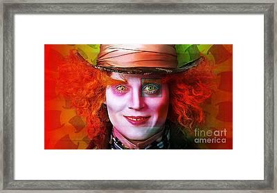 Johnny Depp Painting Framed Print by Marvin Blaine
