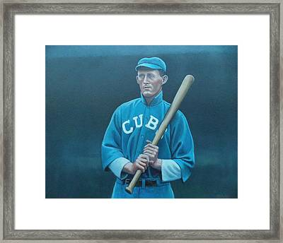 Johnny Evers Framed Print by Mark Haley