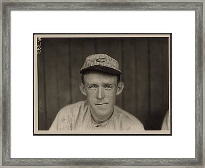 Johnny Evers Of Chicago Cubs Framed Print by Historic Photos