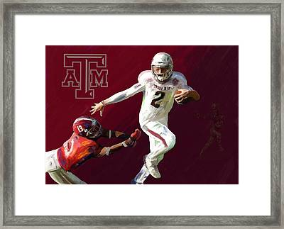 Johnny Football Framed Print by G Cannon
