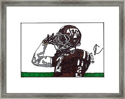 Johnny Manziel The Salute Framed Print