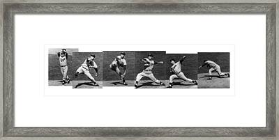 Johnny Podres, American Mlb Player Framed Print by Photo Researchers