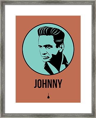 Johnny Poster 1 Framed Print by Naxart Studio