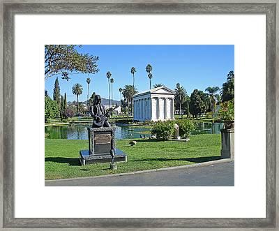Johnny Ramone - Hollywood Forever Framed Print by Gill Billington