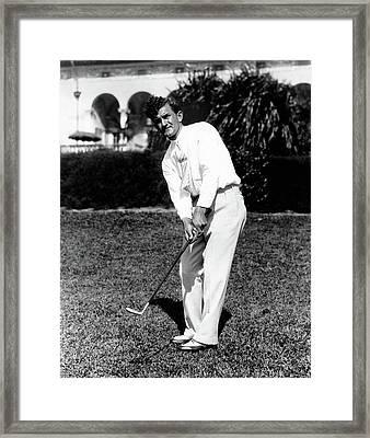 Johnny Revolta Playing Golf Framed Print