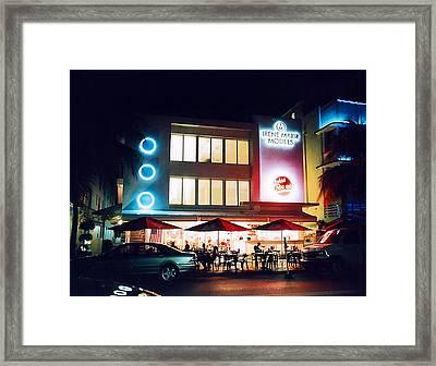 Framed Print featuring the photograph Johnny Rockets Polaroid by Gary Dean Mercer Clark