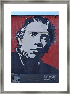 Johnny Rotten Framed Print by Allen Beatty