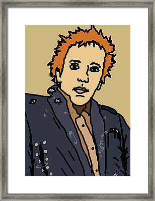 Johnny Rotten Framed Print by Jera Sky