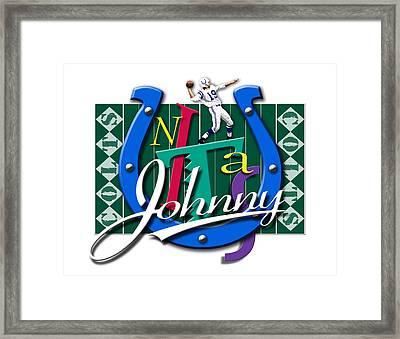 Johnny Unitas Baltimore Colts Framed Print by Ron Regalado