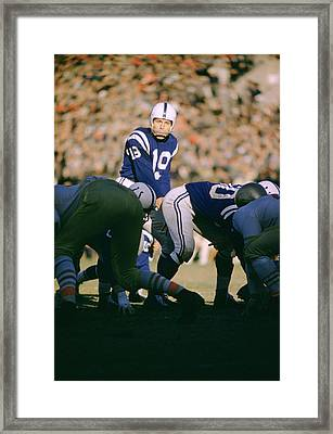 Johnny Unitas Ready  Framed Print by Retro Images Archive