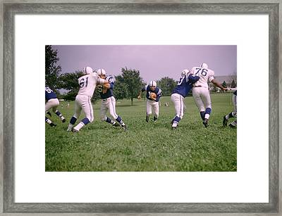 Johnny Unitas Running Up The Middle Framed Print by Retro Images Archive