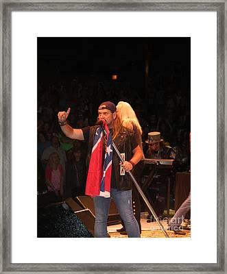 Johnny Van Zant Of Lynyrd Skynyrd Framed Print