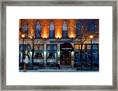 Johnny's Downtown Framed Print by Frozen in Time Fine Art Photography