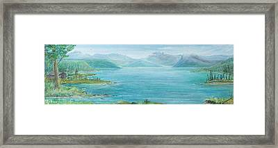 Framed Print featuring the painting John's Cabin by Cathy Long