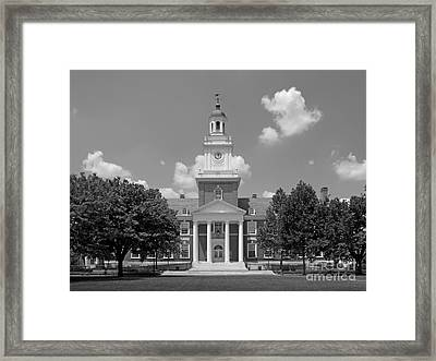 Johns Hopkins Gilman Hall Framed Print by University Icons