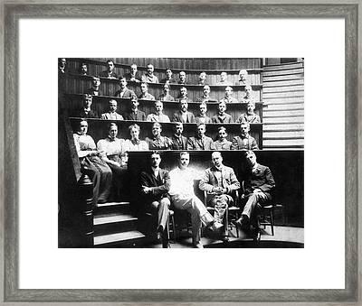 Johns Hopkins Medical School Framed Print by National Library Of Medicine