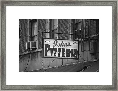 John's Pizzeria In Nyc Framed Print