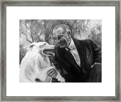 Johnson And Blanco Framed Print