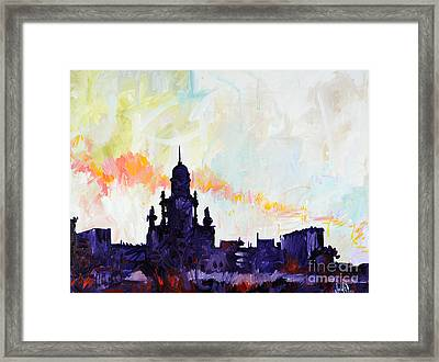 Johnson And Johnson From A Commuter's Point Of View Framed Print by Michael Ciccotello