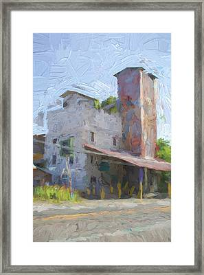 Johnson City Texas Old Feed Mill Framed Print by JG Thompson