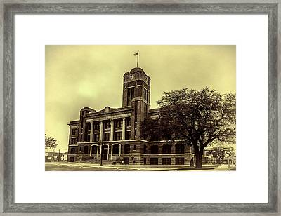 Johnson County Courthouse Framed Print