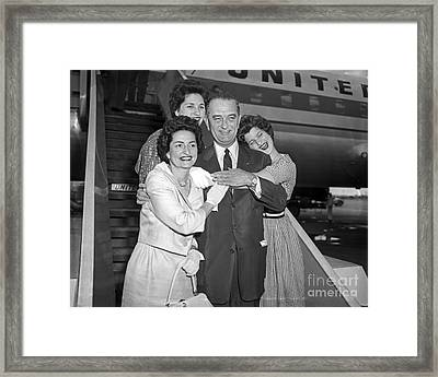 Framed Print featuring the photograph Johnson Family 1960 by Martin Konopacki Restoration