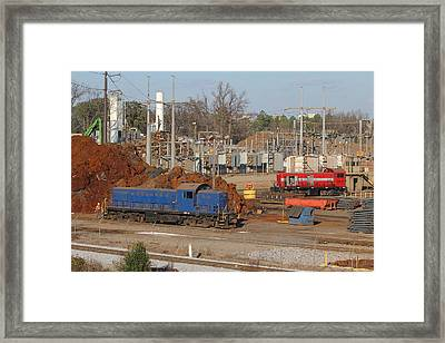 Johnson Railway Alcos In Cayce 1 Framed Print
