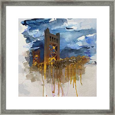 Johnson Street Bridge 8 Framed Print