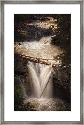 Johnston Canyon Framed Print by Stuart Deacon