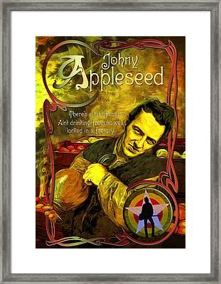 Johny Appleseed Aka Joe Strummer Framed Print
