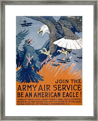 Join The Army Air Service, Be An Framed Print