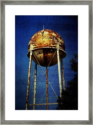 Joiner Water Tower Framed Print by KayeCee Spain