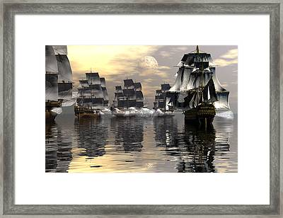 Joining The Fray Framed Print