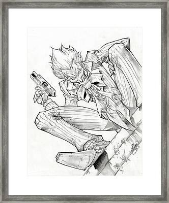 Joker Arkham Asylum Framed Print by Ariana Bannister