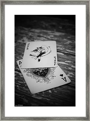 Joker Framed Print by Diaae Bakri