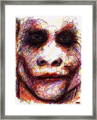 Joker - Eyes Framed Print
