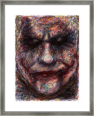 Joker - Face I Framed Print by Rachel Scott