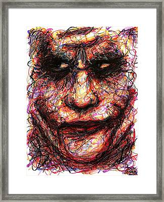 Joker - Face II Framed Print by Rachel Scott