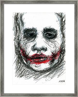 Joker - Not All Jokes Are Funny Framed Print by Rachel Scott